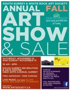 November poster for Art Show 2015