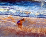 Wagstaff, Sandra - Girl in the Evening Surf