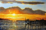 Fong, Eileen - Sunset by the Dock